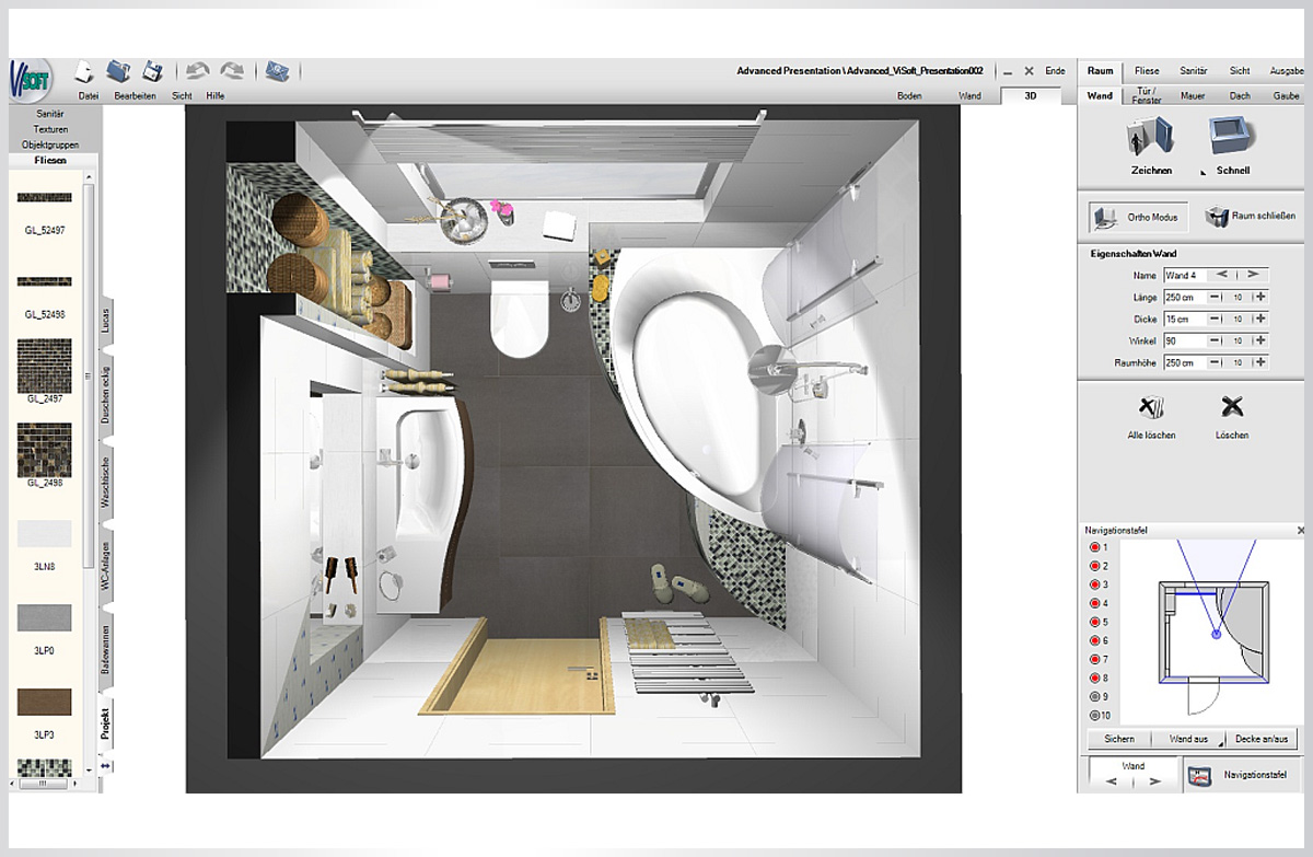 3d planung visoft lins software systemelins software systeme for Software raumgestaltung kostenlos