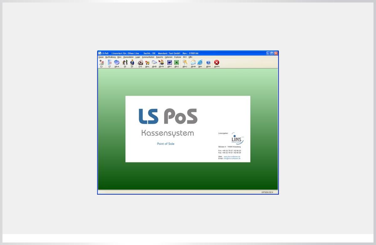 Kassenssystem LS-PoS Warenwirtschaft Handelssoftware Premium Version PE